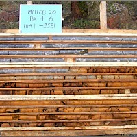 Photo Of Gully Zone Mineralized Drill Core